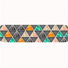 Abstract Geometric Triangle Shape Large Bar Mats by BangZart