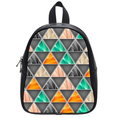 Abstract Geometric Triangle Shape School Bags (small)  by BangZart