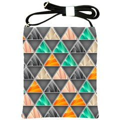 Abstract Geometric Triangle Shape Shoulder Sling Bags by BangZart