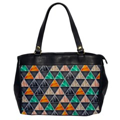 Abstract Geometric Triangle Shape Office Handbags by BangZart