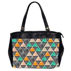 Abstract Geometric Triangle Shape Office Handbags (2 Sides)  by BangZart