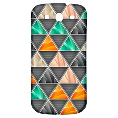 Abstract Geometric Triangle Shape Samsung Galaxy S3 S Iii Classic Hardshell Back Case by BangZart