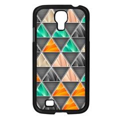 Abstract Geometric Triangle Shape Samsung Galaxy S4 I9500/ I9505 Case (black) by BangZart