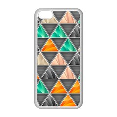 Abstract Geometric Triangle Shape Apple Iphone 5c Seamless Case (white) by BangZart