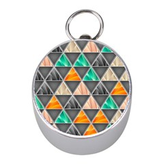 Abstract Geometric Triangle Shape Mini Silver Compasses by BangZart