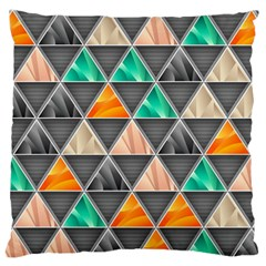 Abstract Geometric Triangle Shape Large Flano Cushion Case (one Side) by BangZart