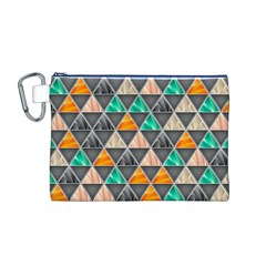 Abstract Geometric Triangle Shape Canvas Cosmetic Bag (m) by BangZart