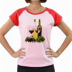 White Wine Red Wine The Bottle Women s Cap Sleeve T Shirt by BangZart