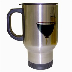 White Wine Red Wine The Bottle Travel Mug (silver Gray) by BangZart