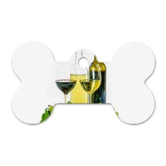 White Wine Red Wine The Bottle Dog Tag Bone (two Sides) by BangZart