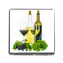 White Wine Red Wine The Bottle Memory Card Reader (square) by BangZart