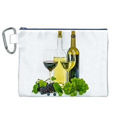 White Wine Red Wine The Bottle Canvas Cosmetic Bag (xl) by BangZart