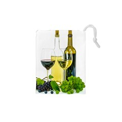 White Wine Red Wine The Bottle Drawstring Pouches (xs)  by BangZart