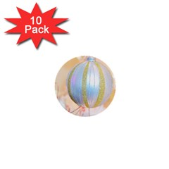 Sphere Tree White Gold Silver 1  Mini Buttons (10 Pack)  by BangZart