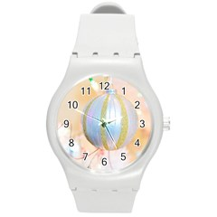 Sphere Tree White Gold Silver Round Plastic Sport Watch (m) by BangZart