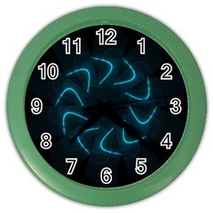 Background Abstract Decorative Color Wall Clocks by BangZart