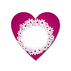 Photo Frame Transparent Background Heart Magnet by BangZart
