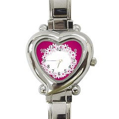 Photo Frame Transparent Background Heart Italian Charm Watch by BangZart