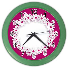 Photo Frame Transparent Background Color Wall Clocks by BangZart
