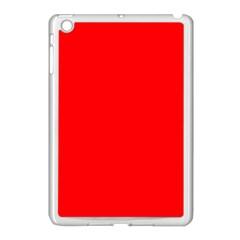 Solid Christmas Red Velvet Apple Ipad Mini Case (white) by PodArtist