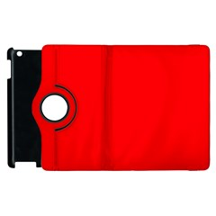 Solid Christmas Red Velvet Apple Ipad 3/4 Flip 360 Case by PodArtist