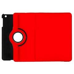Solid Christmas Red Velvet Apple Ipad Mini Flip 360 Case by PodArtist