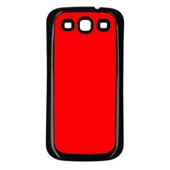 Solid Christmas Red Velvet Samsung Galaxy S3 Back Case (black) by PodArtist