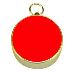 Solid Christmas Red Velvet Gold Compasses by PodArtist