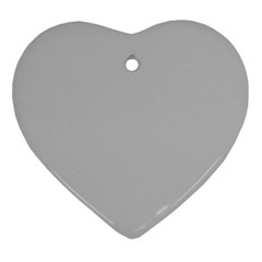 Solid Christmas Silver Ornament (heart) by PodArtist