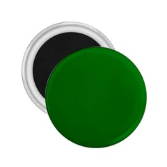 Solid Christmas Green Velvet Classic Colors 2 25  Magnets by PodArtist