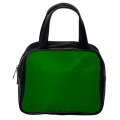 Solid Christmas Green Velvet Classic Colors Classic Handbags (one Side) by PodArtist