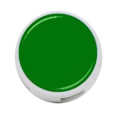 Solid Christmas Green Velvet Classic Colors 4 Port Usb Hub (two Sides)  by PodArtist