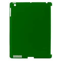 Solid Christmas Green Velvet Classic Colors Apple Ipad 3/4 Hardshell Case (compatible With Smart Cover) by PodArtist