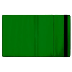 Solid Christmas Green Velvet Classic Colors Apple Ipad 3/4 Flip Case by PodArtist