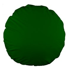 Solid Christmas Green Velvet Classic Colors Large 18  Premium Round Cushions by PodArtist