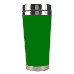 Solid Christmas Green Velvet Classic Colors Stainless Steel Travel Tumblers by PodArtist