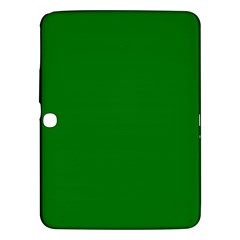 Solid Christmas Green Velvet Classic Colors Samsung Galaxy Tab 3 (10 1 ) P5200 Hardshell Case  by PodArtist