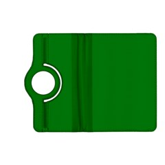 Solid Christmas Green Velvet Classic Colors Kindle Fire Hd (2013) Flip 360 Case by PodArtist