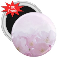 Pink Blossom Bloom Spring Romantic 3  Magnets (100 Pack) by BangZart