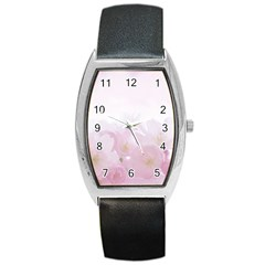 Pink Blossom Bloom Spring Romantic Barrel Style Metal Watch by BangZart