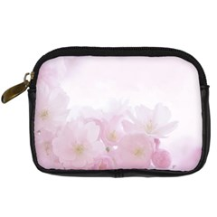 Pink Blossom Bloom Spring Romantic Digital Camera Cases by BangZart