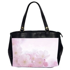 Pink Blossom Bloom Spring Romantic Office Handbags (2 Sides)  by BangZart
