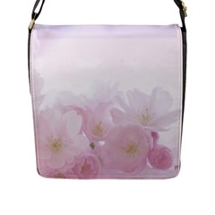 Pink Blossom Bloom Spring Romantic Flap Messenger Bag (l)  by BangZart