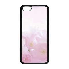 Pink Blossom Bloom Spring Romantic Apple Iphone 5c Seamless Case (black) by BangZart