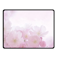Pink Blossom Bloom Spring Romantic Double Sided Fleece Blanket (small)  by BangZart