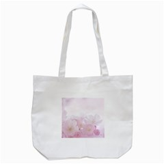 Pink Blossom Bloom Spring Romantic Tote Bag (white) by BangZart
