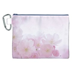 Pink Blossom Bloom Spring Romantic Canvas Cosmetic Bag (xxl) by BangZart
