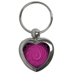 Purple Background Scrapbooking Abstract Key Chains (heart)  by BangZart