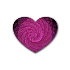 Purple Background Scrapbooking Abstract Rubber Coaster (heart)  by BangZart