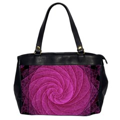 Purple Background Scrapbooking Abstract Office Handbags (2 Sides)  by BangZart